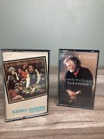2 Kenny Rogers Cassette Tapes - The Gambler- If Only My Heart Had A Voice