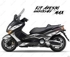 ADESIVI ANNIVERSARY CARENA COMPATIBILE YAMAHA TMAX T-MAX 01 07 BIANCO ARGENTO