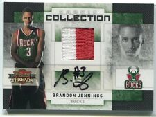 2009-10 Threads Collection Signatures 9 Brandon Jennings Rookie Patch Auto 14/25