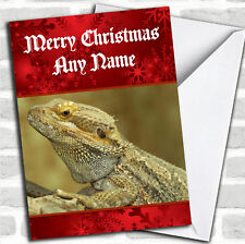 Bearded Dragon Lizard Personalized Christmas Card