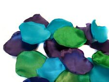 Peacock Wedding Flower Petals Purple Green Torquoise Wedding Decor 100 petals