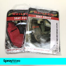 Neilsen Nylon Car Seat Covers Heavy Duty Washable / Waterproof In Red & Black