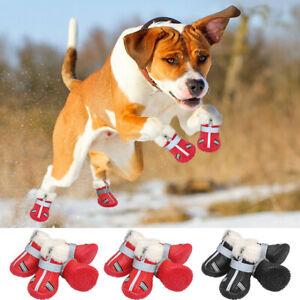 4Pcs Anti-Slip Pet Boots Dog Waterproof Shoes Paw Protective Rain Booties Socks