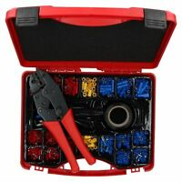 552pc Electricians Electrical Insulated Ratcheting Crimping Tool + Terminal Set