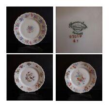 4 assiettes soucoupes porcelaine THOMAS AVORY BAVARIA GERMANY art nouveau N3794