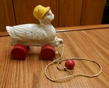 Antique Wood Duck or Swan Pull Toy, Vintage!