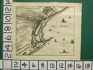 c1650 ANTIQUE MAP ~ DOVER (DOWER DOUER) HARBOUR BRITISH SEA