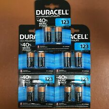 NEW 10 X DURACELL CR123 3V LITHIUM PHOTO BATTERY DL123A/CR17345 LONGEST EXPIRY