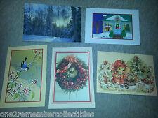 15 Hallmark Navidad Tarjetas y Sobres Navidad Surtido Conjunto en Caja Vintage