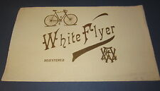 Original Old Antique - WHITE FLYER - Inner CIGAR LABEL - BICYCLE