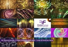 Lines & Particles Vol_02 / 20 digital video backgrounds / Royalty free