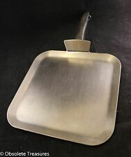 """Vtg Colonial 18-8 Stainless Steel 3-Ply 11"""" Stovetop Griddle Skillet Made in USA"""