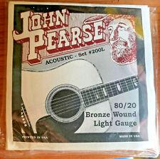 John Pearse Acoustic String Set 200L 80 / 20 Bronze Wound Light Gauge