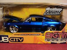 Jada  1967 Shelby Mustang GT500 KR 1/24 scale NIB  2005 release Blue
