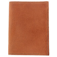 Leather Credit Card Cash Wallet Case Two Pockets Saddle Tan USA Made No. 2
