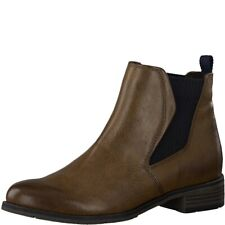 Marco Tozzi Damen Stiefeletten Chelsea Boots 2-25040-33 Cognac Antik
