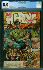 HEROIC COMICS 51 CGC 8.0 OW PAGES  1948  L2