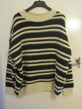 H&M Oversize Acrylic Wool Blend Black & White Jumper in Size M