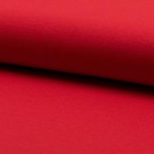 0,5m Jersey uni rot 95%25BW 5%25 EL Meterware 145cm breit