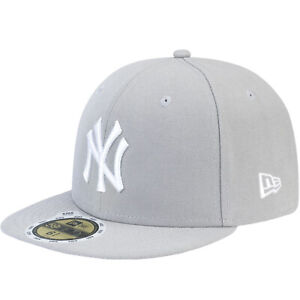 New Era Kids Childs 59FIFTY New York Yankees Essential MLB Fitted Cap Hat - Grey