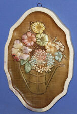 Floral Hand Made Relief Wall Decor Plaster Plaque