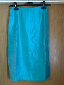 NEW WOMAN'S TURQUOISE STRAIGHT KNEE LENGTH TUBE SKIRT SIZE 10 12 20