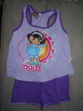 Ensemble pyjama débardeur + short violet DORA Taille 4 ans