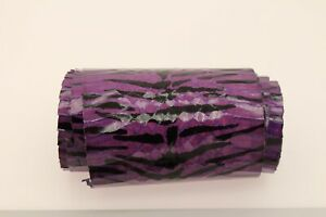 Zebra Print Snake Skin Leather Snakeskin Hide Leather Grossy Two Colors