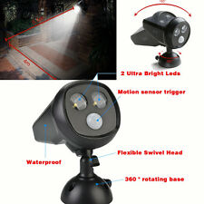 Waterproof LED Solar Motion Sensor Light Outdoor Garden Security SpotlIght 3Mode