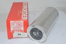 Lot of 3 NEW SCHROEDER K3 Paper Hydraulic Filter Element, 3 Micron Rating, Prima