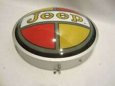Led Jeep Retro dealership sign Metal rim Willys Neon garage shop wall lamp light