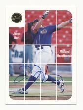 Jason Hart 2001 Just Minor Baseball Autograph