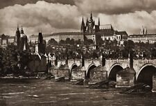 1940 Vintage PRAGUE Czech Republic HRADCANY CASTLE Charles Bridge ~ KARLA PLICKY