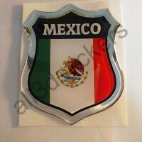 Pegatina México 3D Escudo Emblema Vinilo Adhesivo Resina Relieve Coche Moto