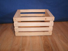 5 small wooden crates, wooden storage crate