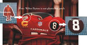 Arizona Cardinals Larry Wilson No.8 Memorial Logo + Walter Payton Man Patch