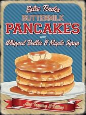 Pancakes, American Diner Kitchen Cafe Food Sweet Savoury Small Metal Tin Sign