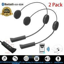 2xHelmet Motorcycle Headset Speakers Microphone BT4.0+EDR Handsfree Call Control