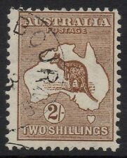 Australia - 1st wmk 2/- brown kangaroo - CTO with gum