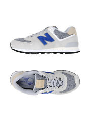 NEW BALANCE 574 Sneakers Size 44.5 UK 10 US 10.5 Contrast Leather Knitted