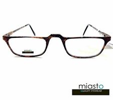 "NWT$39.99 MIASTO HALF FRAME ""CARBON FIBER"" 1/2 READER READING GLASSES+4.00 BROWN"