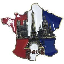 Hard Metal Paris - Landmark Flag City Icon - 3D Alternative Fridge Magnet