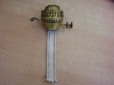 Old DUPLEX OIL LAMP Brass/Brassed DOUBLE WICK BURNER with Snuffer