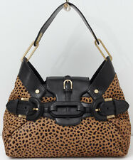 JIMMY CHOO 'Tulita' Leopard Print Pony Hair Handbag Shoulder Bag