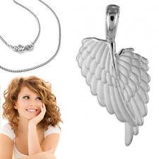 Doppel- Engelflügel Anhänger Schutzengel Engels Flügel mit Kette Echt Silber 925
