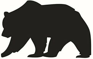 Big Black Bear Silhouette Vinyl Wall Decals Removable Stickers for Kids Rooms