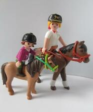 Playmobil Farm/stables figures: Horse & pony with lady & girl riders NEW