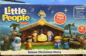 Fisher-Price~Little People Christmas Story~Star Lights Up & Plays Music~18 Piece