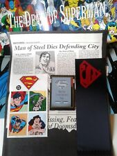 DC COMICS SUPERMAN (5) INSERTS from THE DEATH of SUPERMAN #75 (NO COMIC)