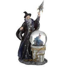 More details for spirit of the sorcerer ice dragon wizard globe figurine - figure ornament 23cm